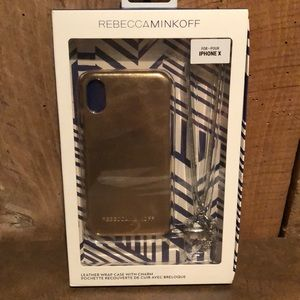 NWT Rebecca Minkoff IPhone Case with Charm
